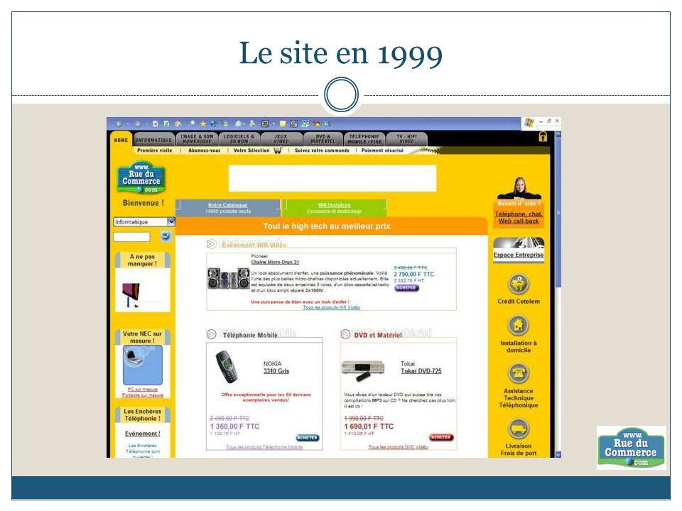Le site en 1999