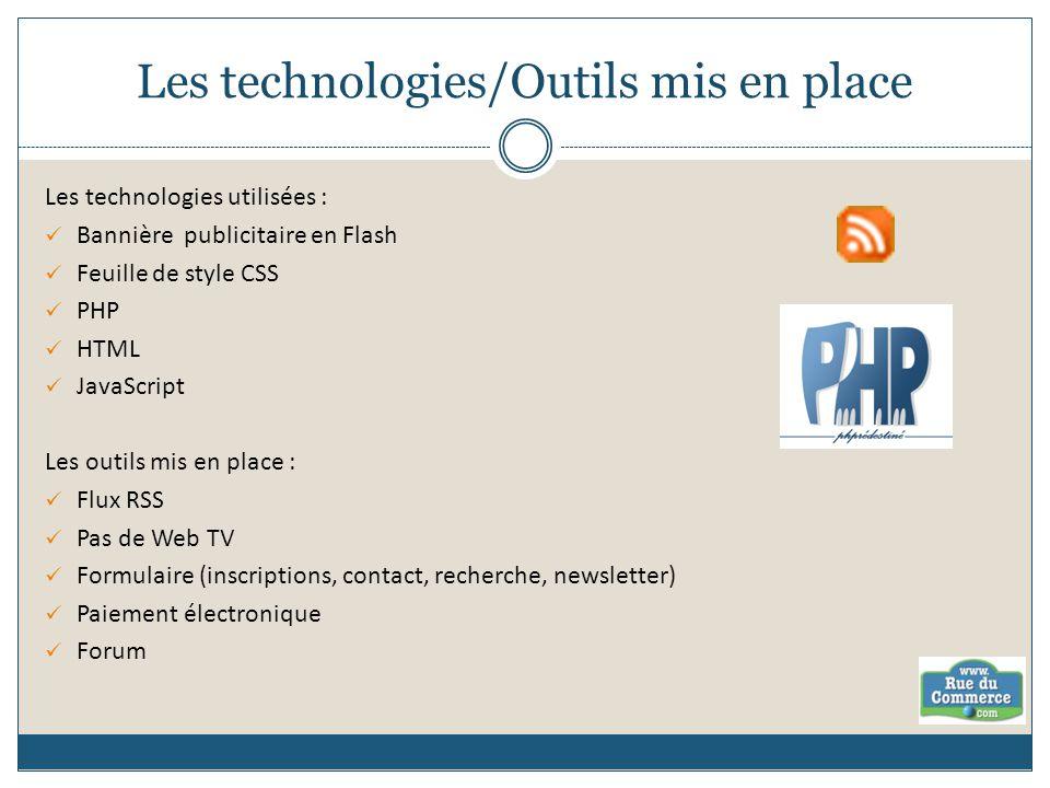 Les technologies/Outils mis en place