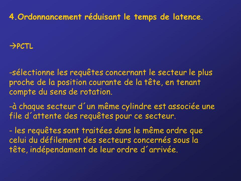 4.Ordonnancement réduisant le temps de latence.