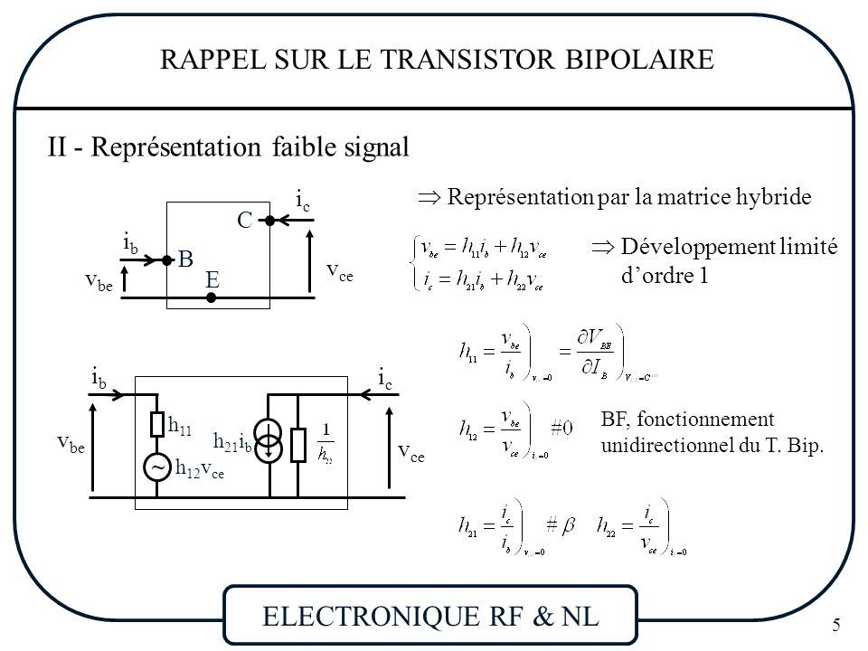 Le transistor bipolaire 28 images electronique rf non for Le transistor