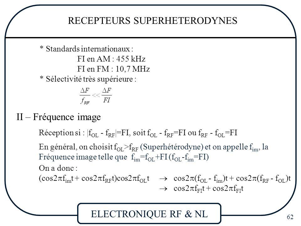 RECEPTEURS SUPERHETERODYNES