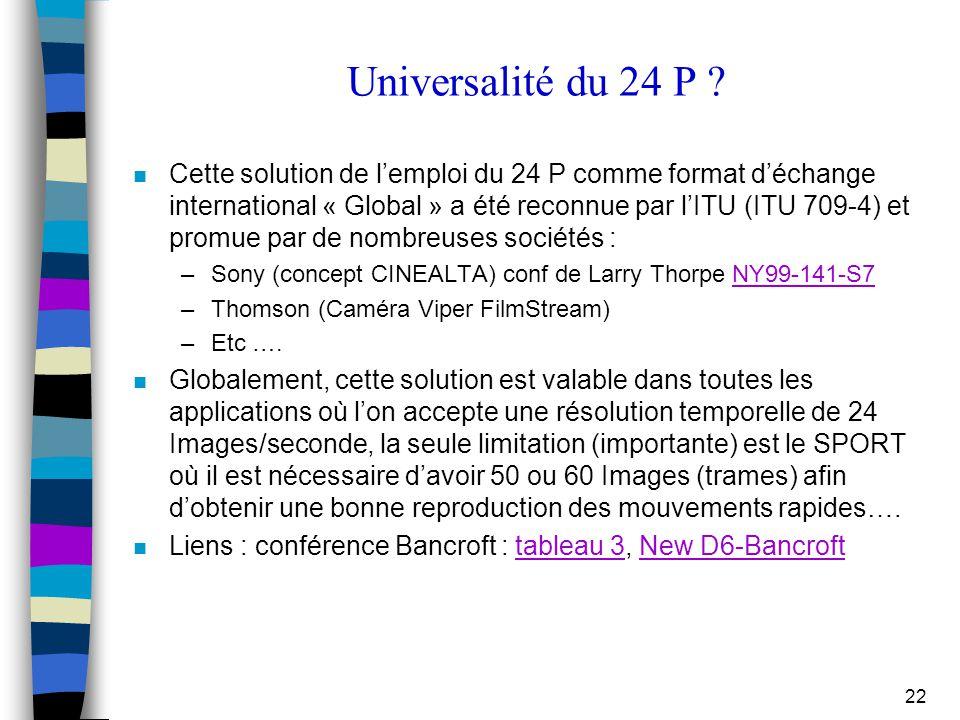 Universalité du 24 P
