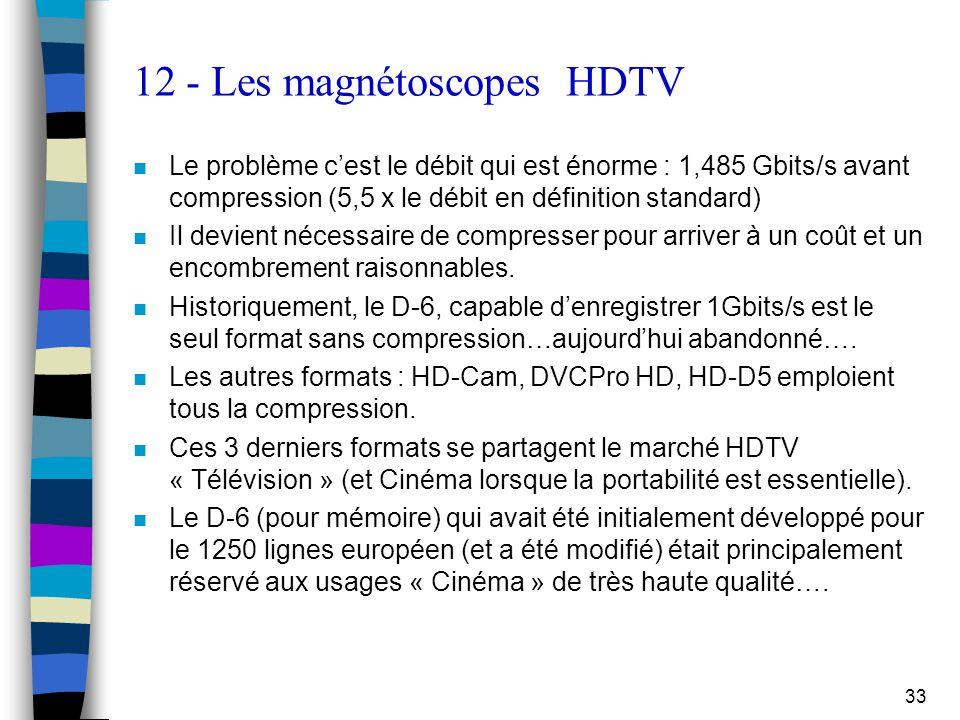 12 - Les magnétoscopes HDTV