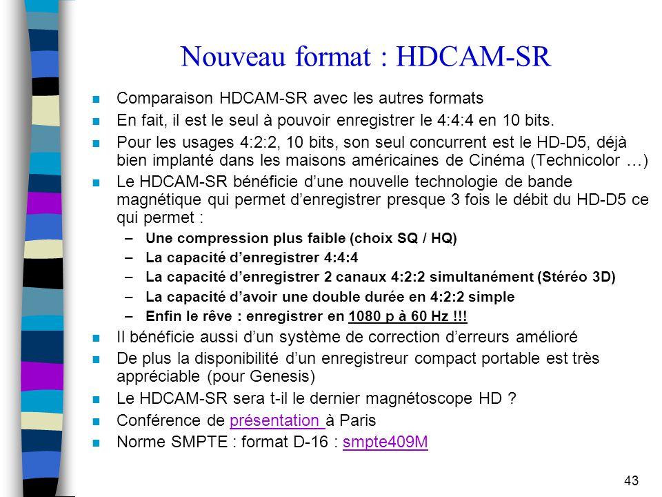 Nouveau format : HDCAM-SR