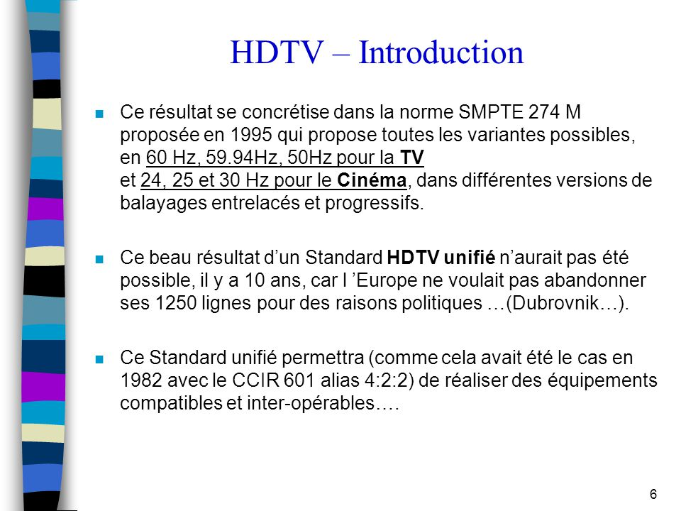 HDTV – Introduction