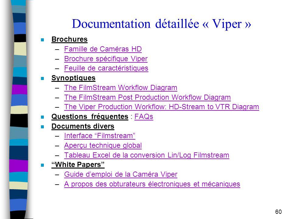 Documentation détaillée « Viper »