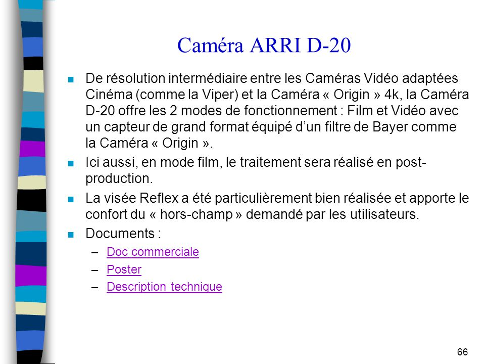 Caméra ARRI D-20