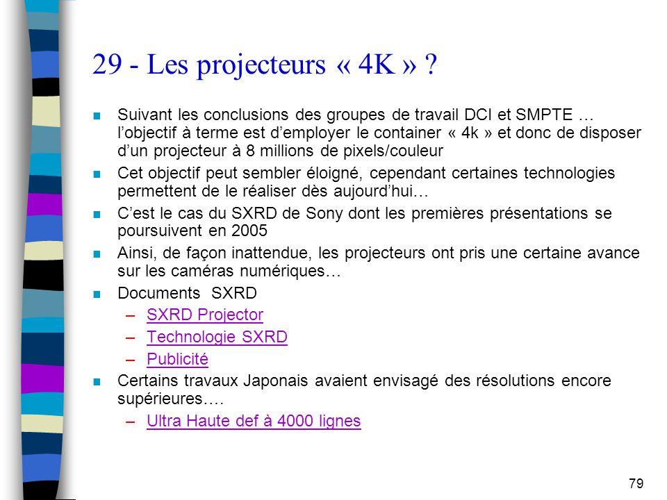 29 - Les projecteurs « 4K »