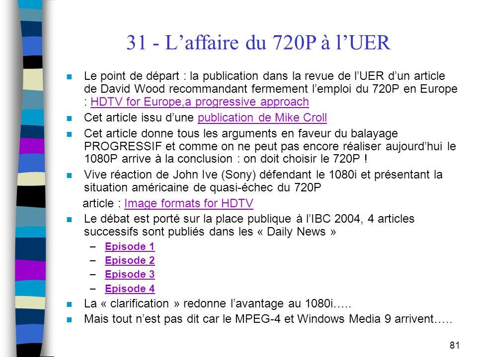 31 - L'affaire du 720P à l'UER