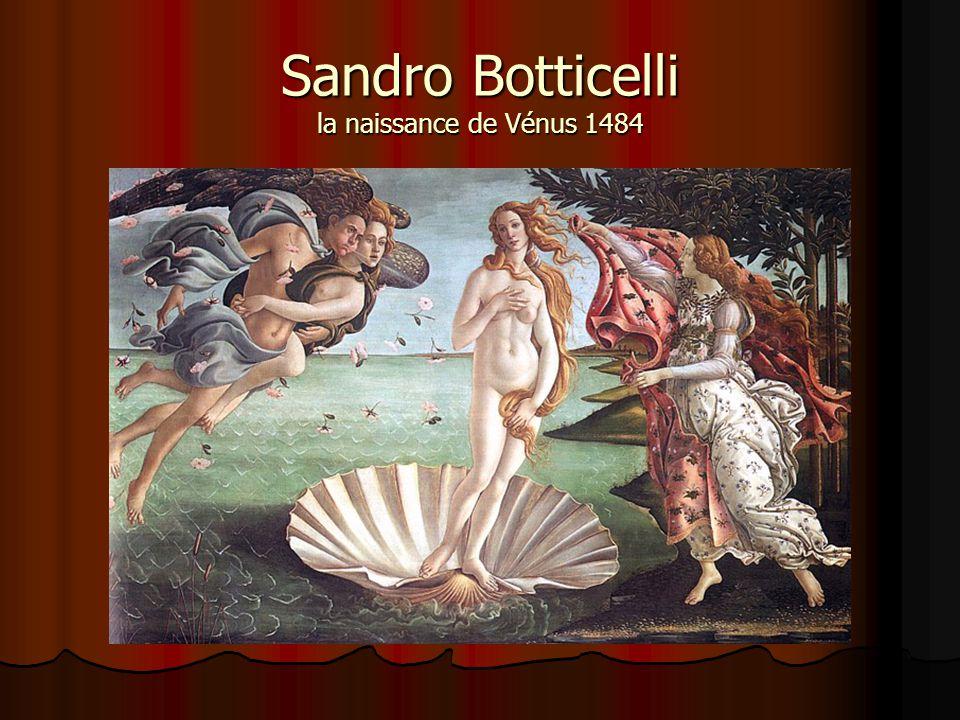 Sandro Botticelli la naissance de Vénus 1484