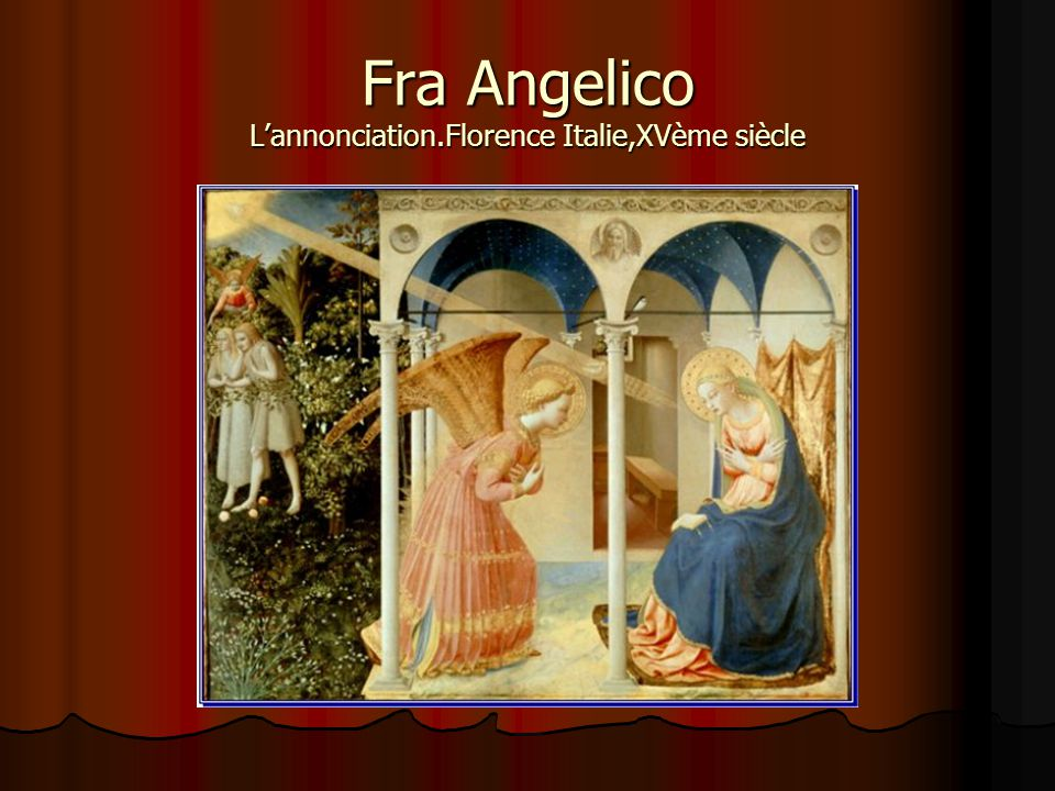 Fra Angelico L'annonciation.Florence Italie,XVème siècle