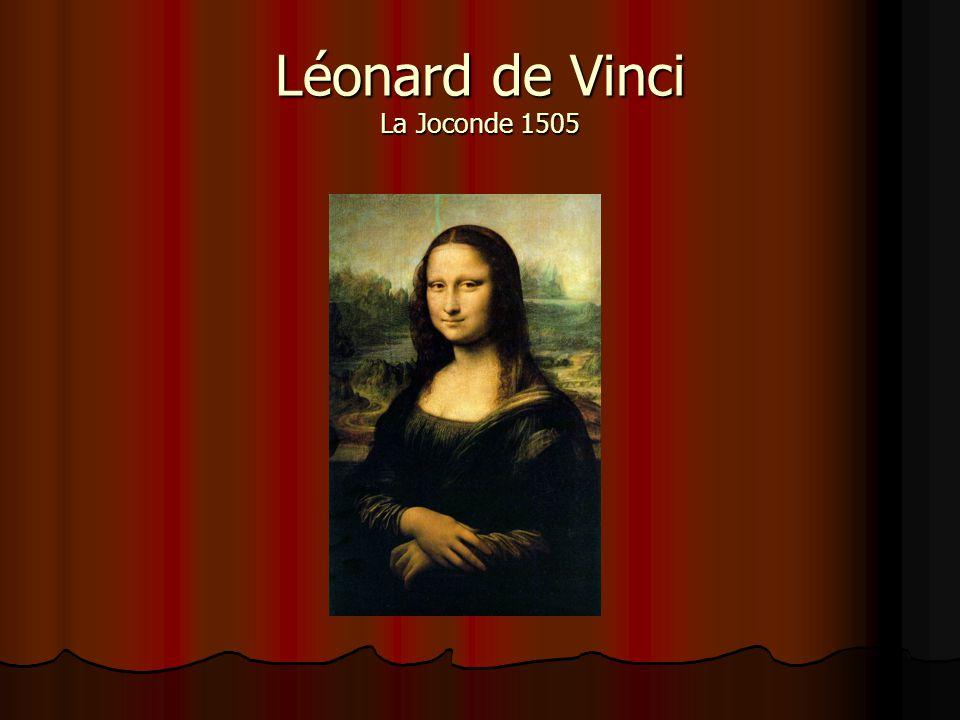 Léonard de Vinci La Joconde 1505