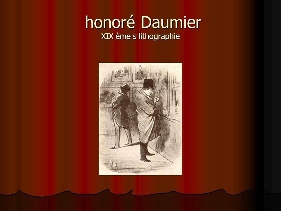 honoré Daumier XIX ème s lithographie