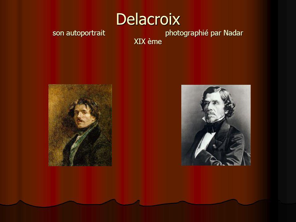 Delacroix son autoportrait photographié par Nadar XIX ème
