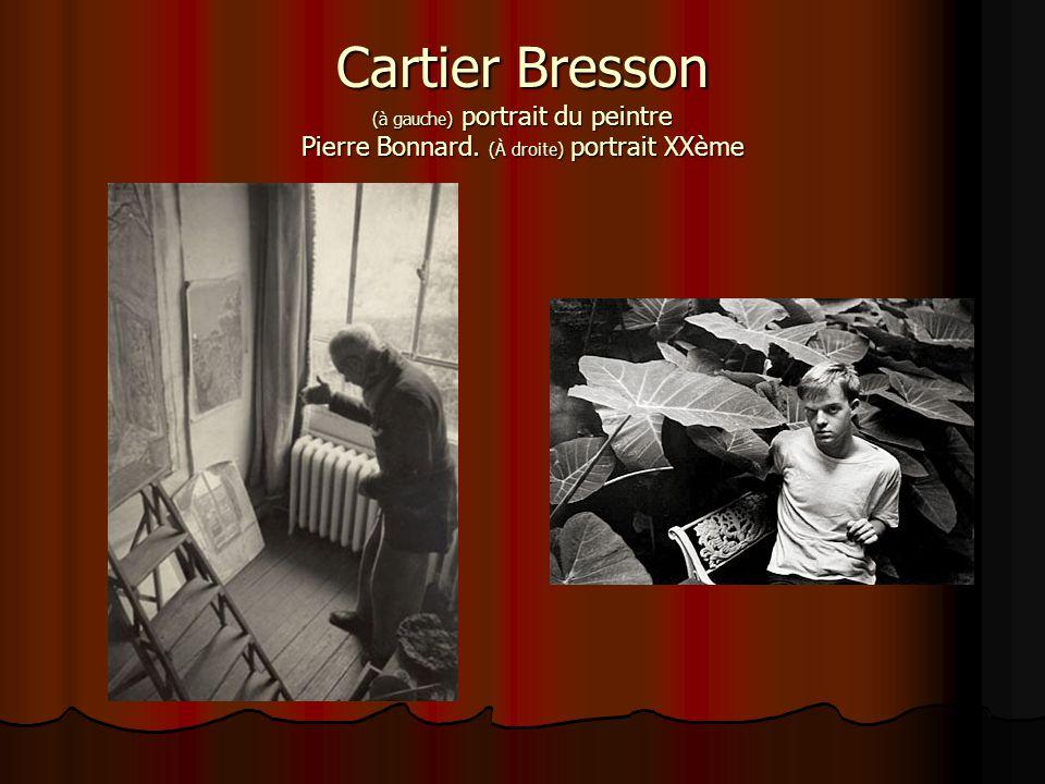 Cartier Bresson (à gauche) portrait du peintre Pierre Bonnard