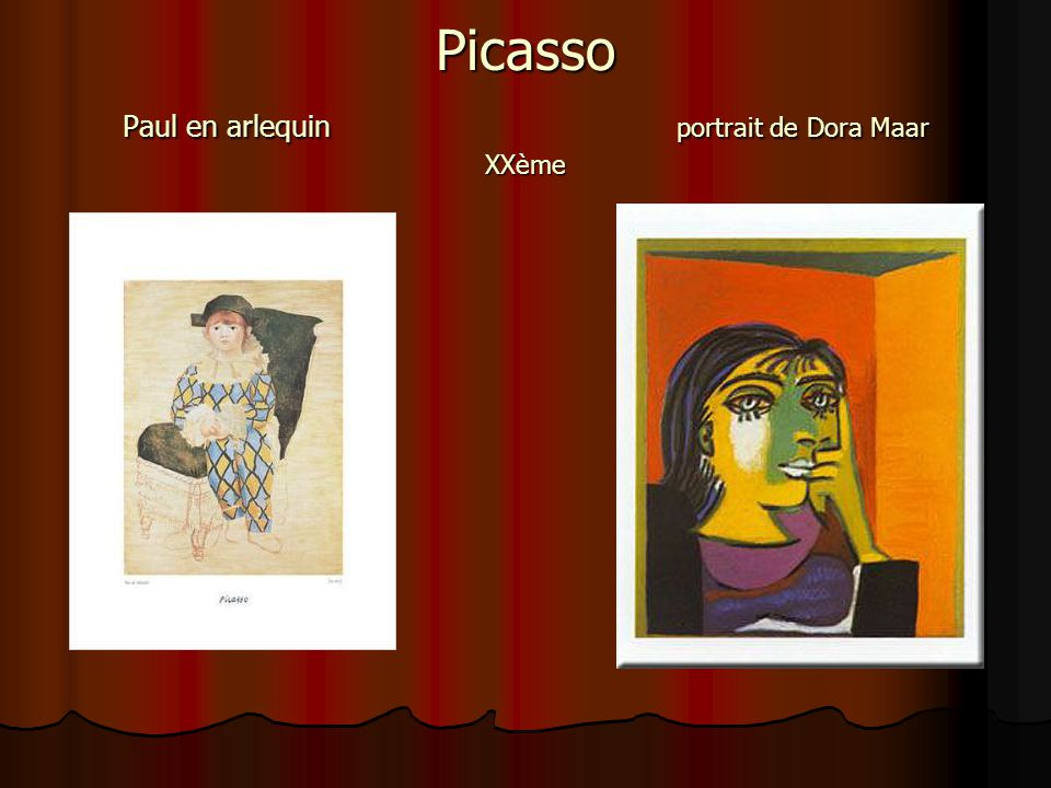 Picasso Paul en arlequin portrait de Dora Maar XXème