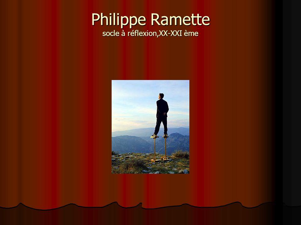 Philippe Ramette socle à réflexion,XX-XXI ème