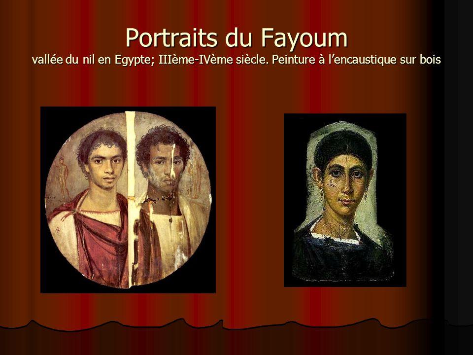 Portraits du Fayoum vallée du nil en Egypte; IIIème-IVème siècle