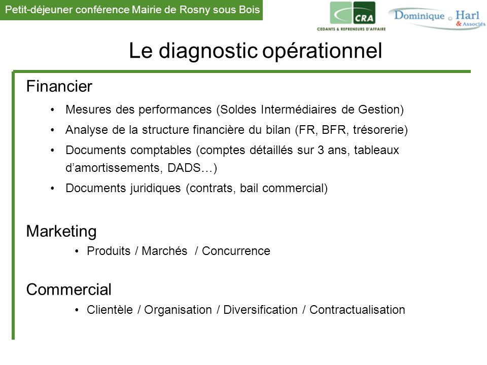 Le diagnostic opérationnel