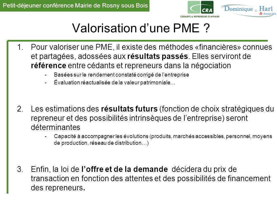 Valorisation d'une PME