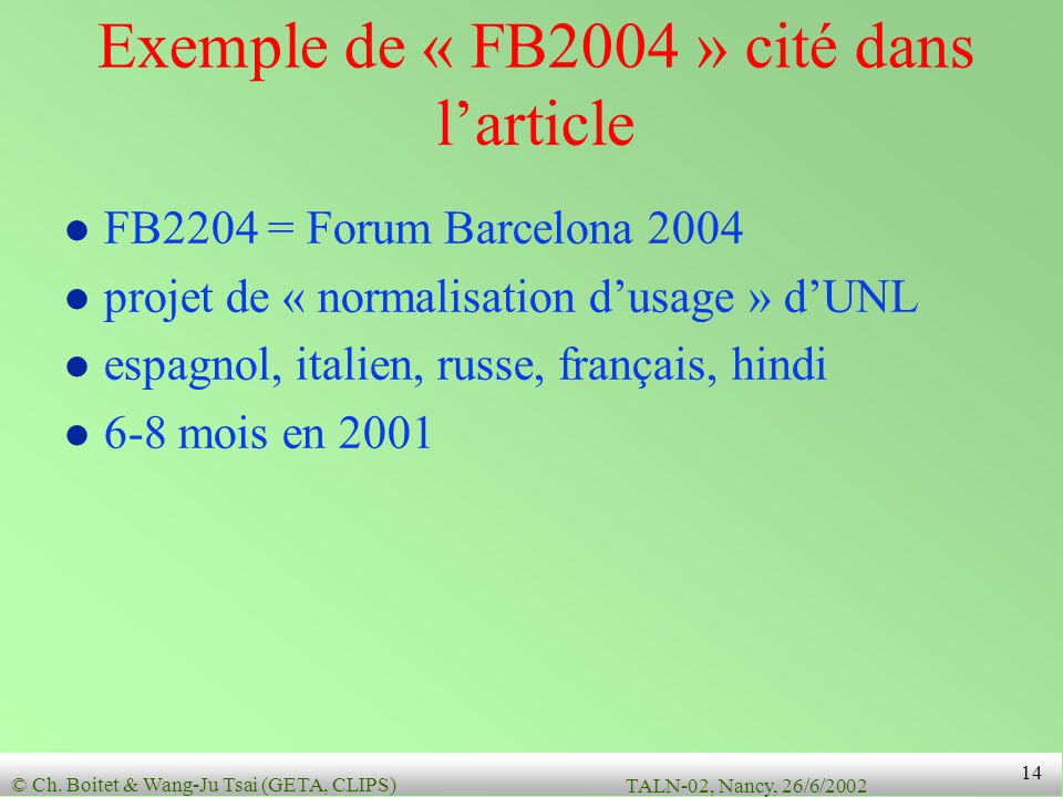 Exemple de « FB2004 » cité dans l'article
