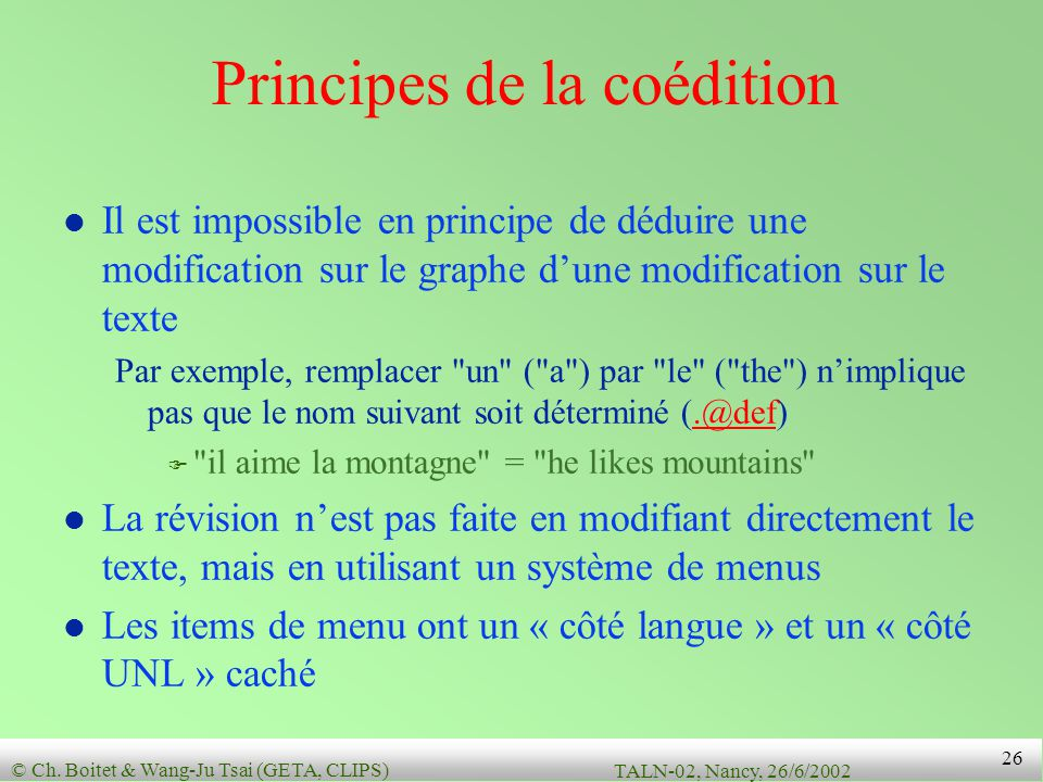 Principes de la coédition