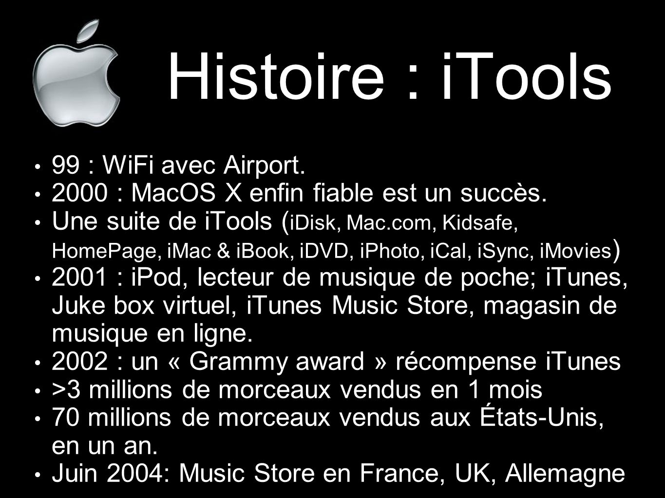 Histoire : iTools 99 : WiFi avec Airport.