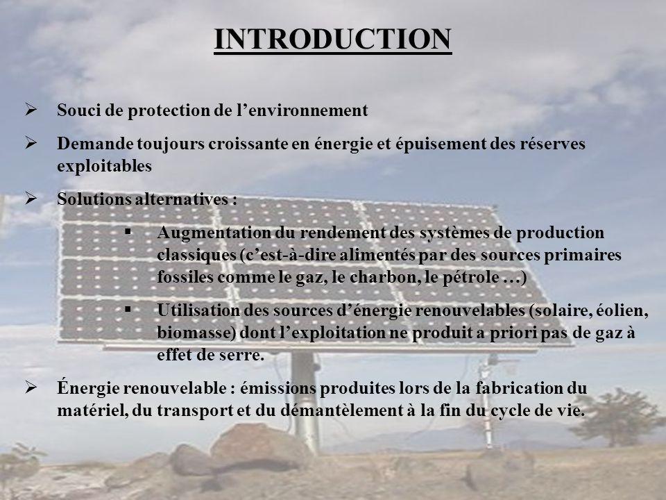 INTRODUCTION Souci de protection de l'environnement