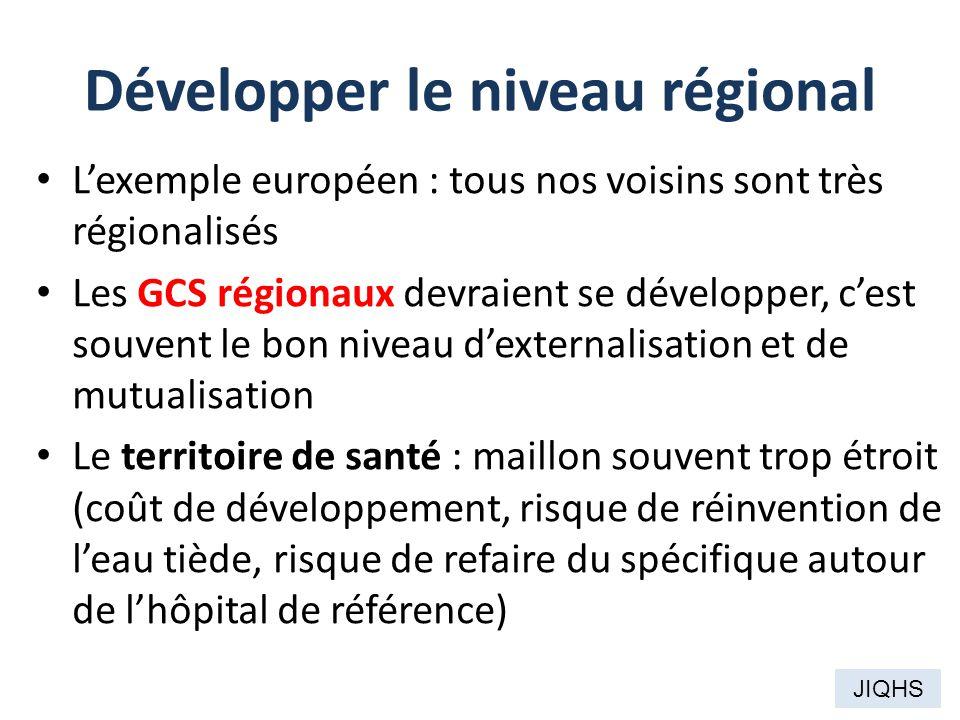 Développer le niveau régional