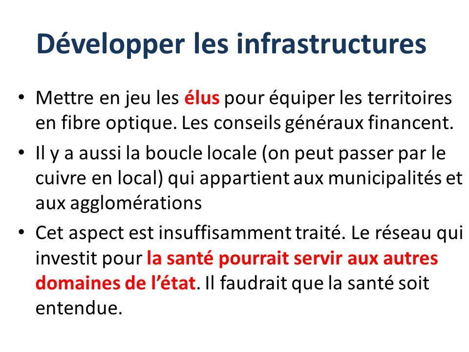 Développer les infrastructures