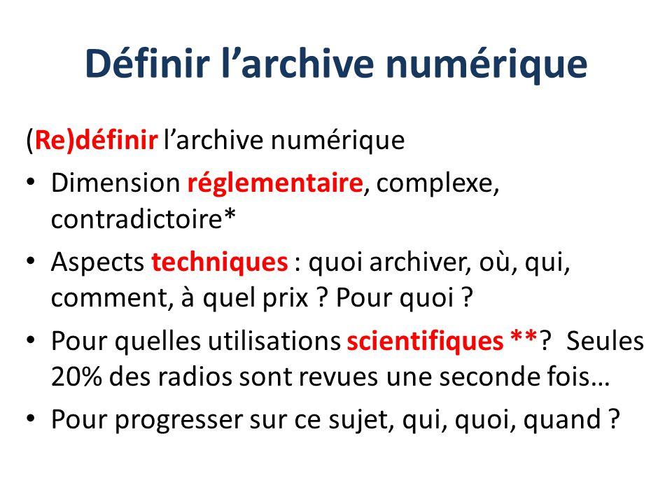 Définir l'archive numérique