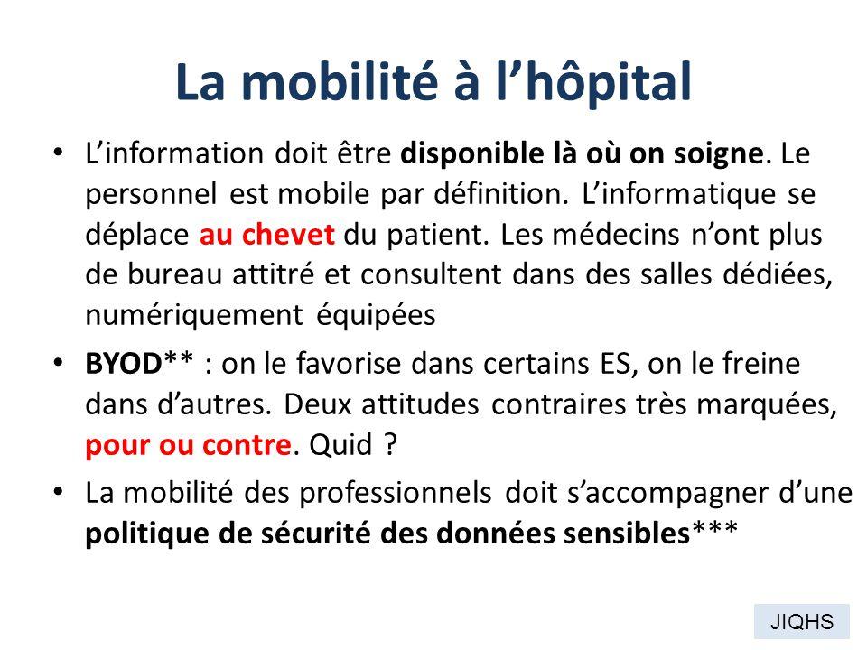 La mobilité à l'hôpital