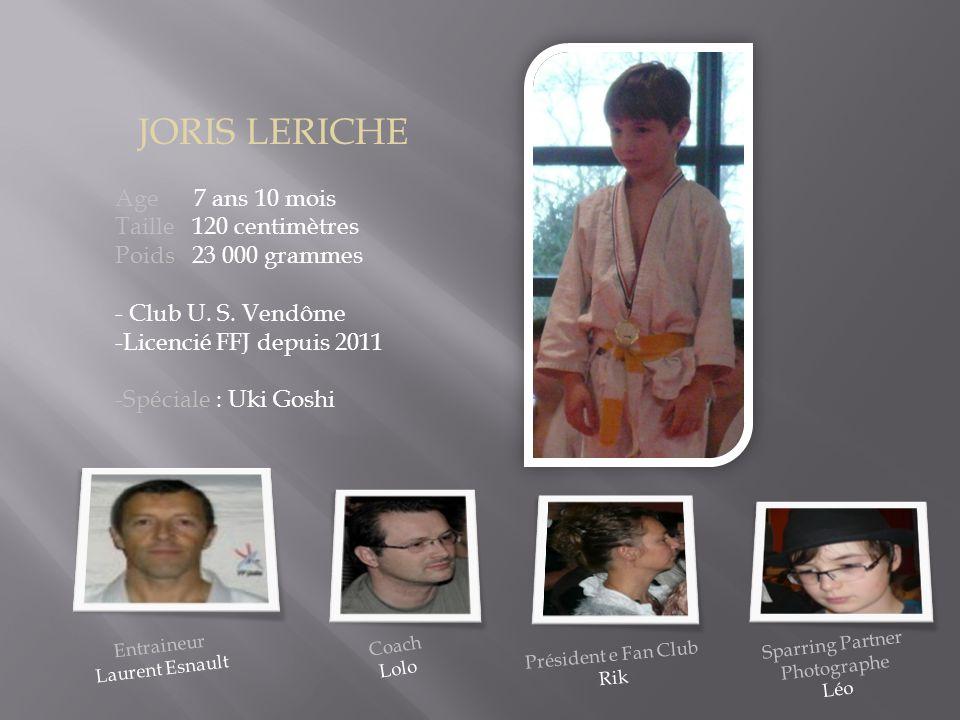 JORIS LERICHE Age 7 ans 10 mois Taille 120 centimètres