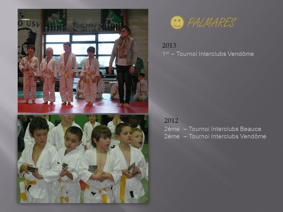 PALMARES 2013 2012 1er – Tournoi Interclubs Vendôme