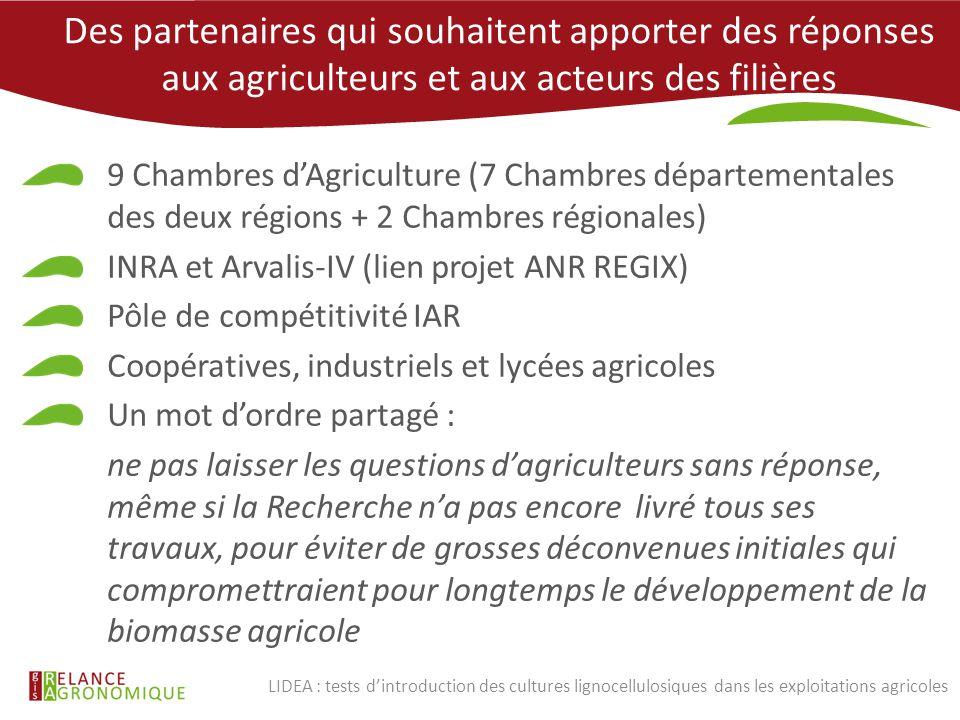Des partenaires qui souhaitent apporter des réponses aux agriculteurs et aux acteurs des filières