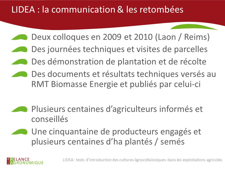 LIDEA : la communication & les retombées