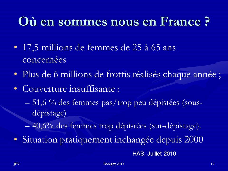Où en sommes nous en France