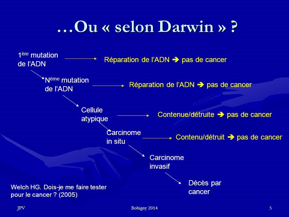…Ou « selon Darwin » 1ère mutation de l'ADN