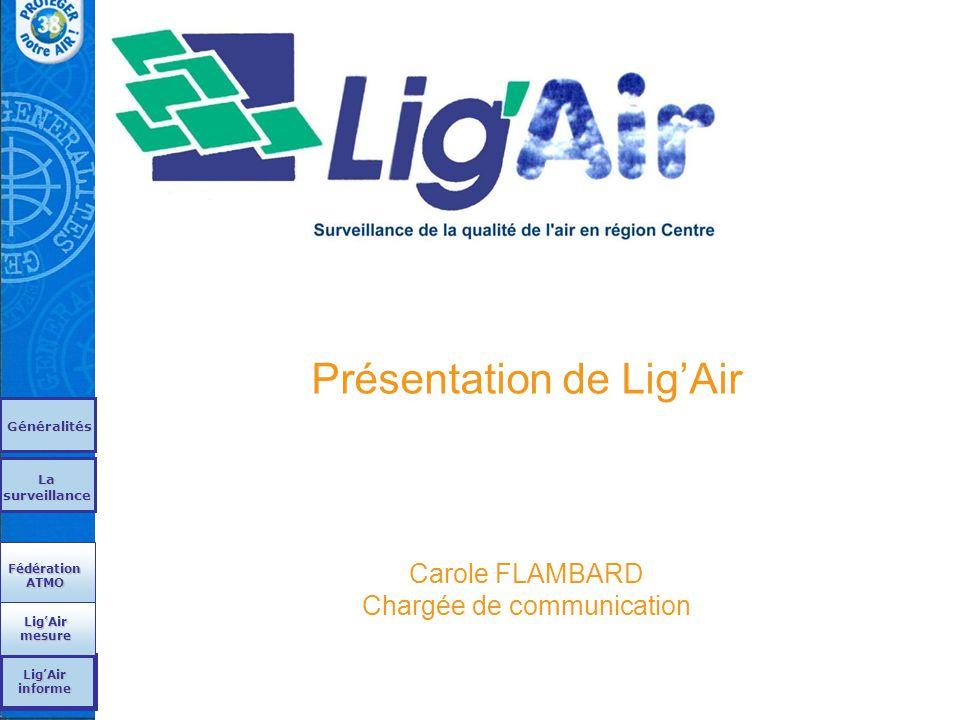 Présentation de Lig'Air Carole FLAMBARD Chargée de communication