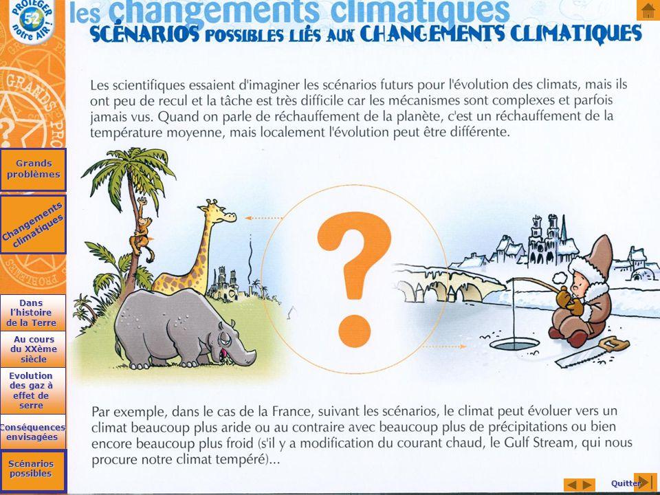 Grands problèmes Changements climatiques