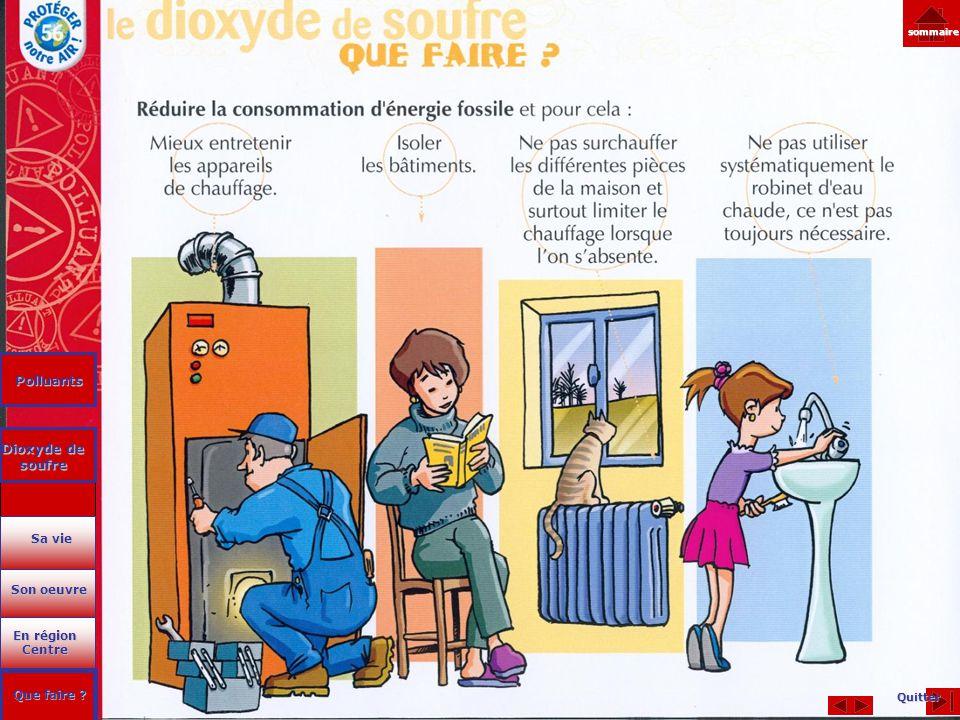 Polluants Dioxyde de soufre
