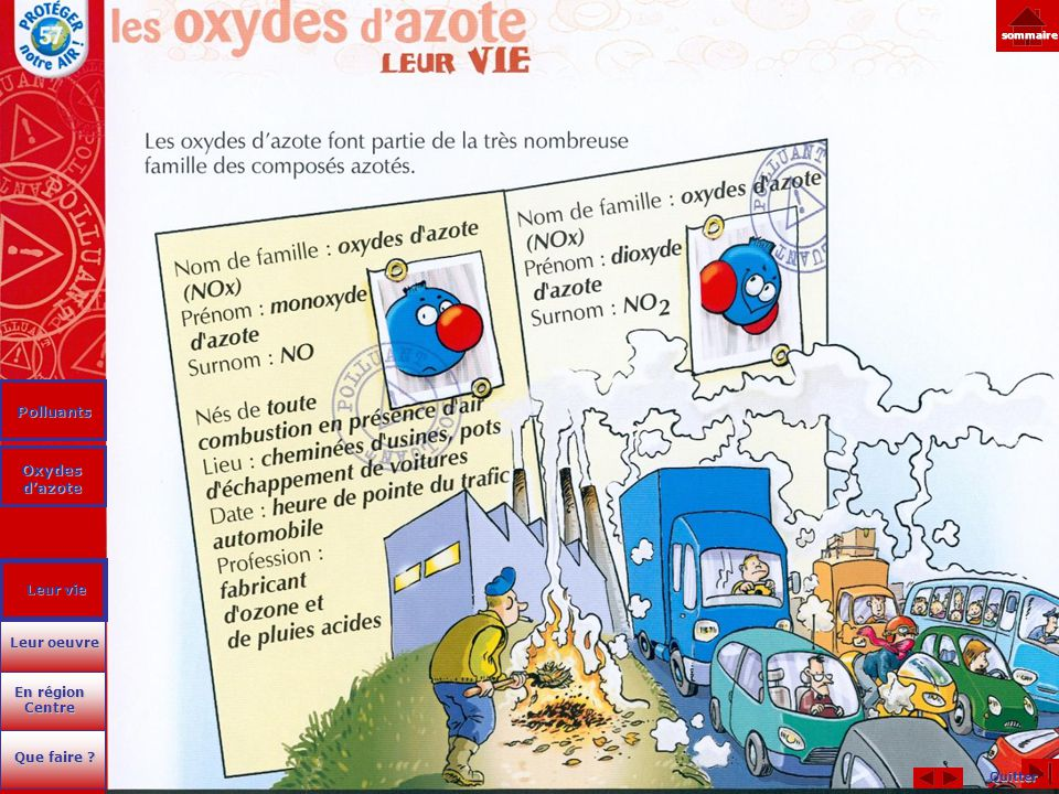 Polluants Oxydes d'azote