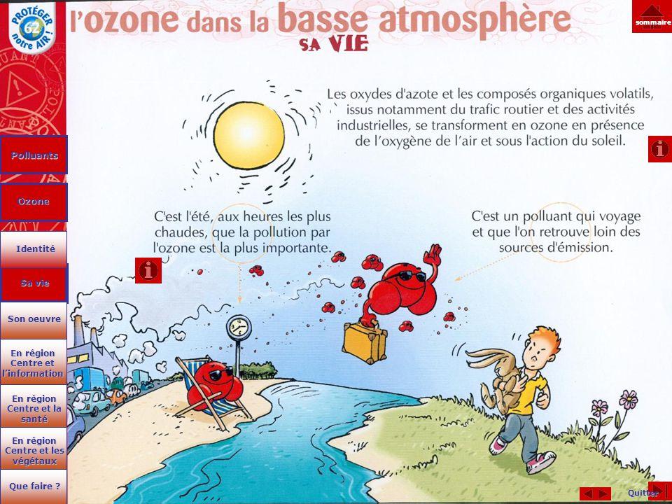 Polluants Ozone Identité Sa vie Son oeuvre