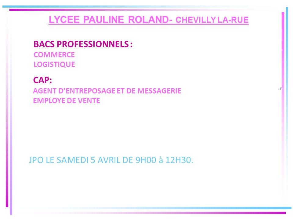 LYCEE PAULINE ROLAND- CHEVILLY LA-RUE