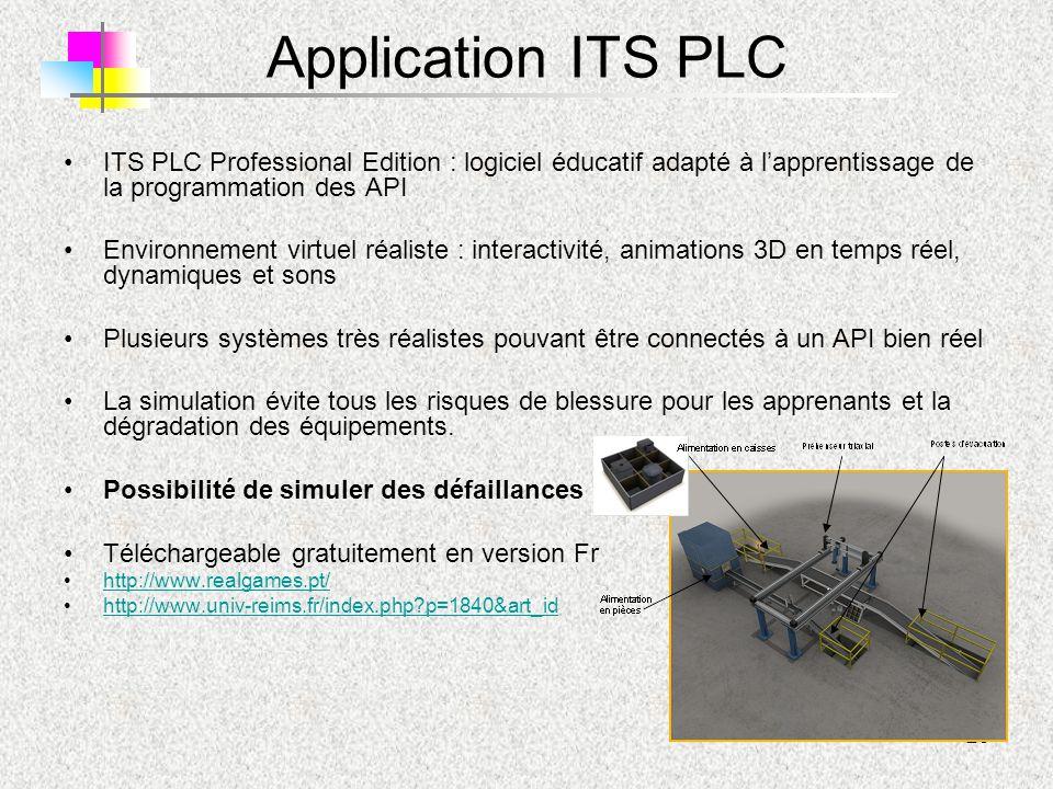 Application ITS PLC ITS PLC Professional Edition : logiciel éducatif adapté à l'apprentissage de la programmation des API.