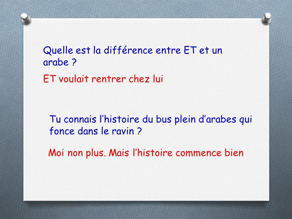 Quelle est la différence entre ET et un arabe