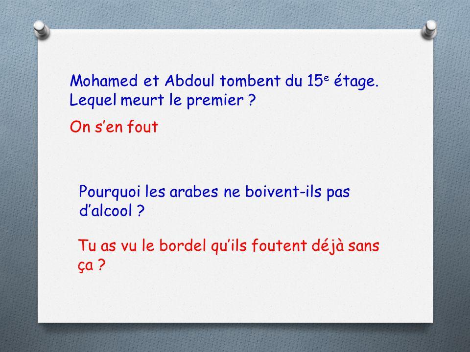 Mohamed et Abdoul tombent du 15e étage. Lequel meurt le premier