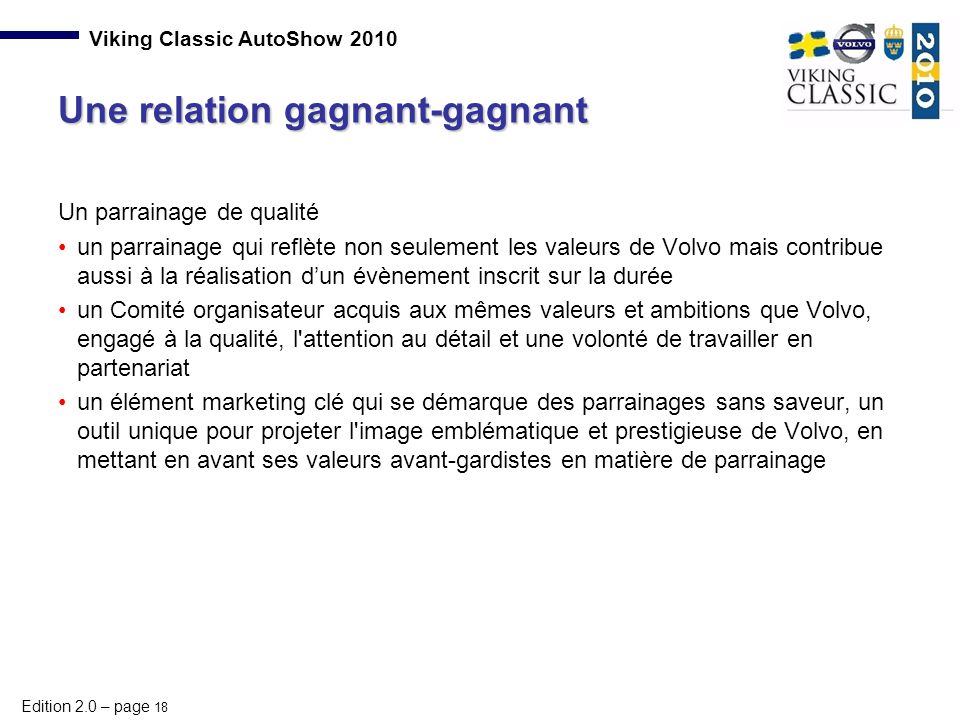 Une relation gagnant-gagnant