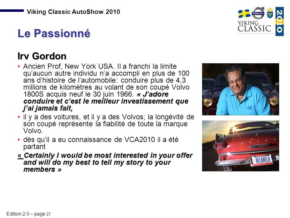 Le Passionné Irv Gordon