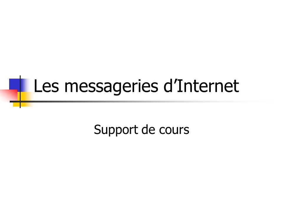 Les messageries d'Internet